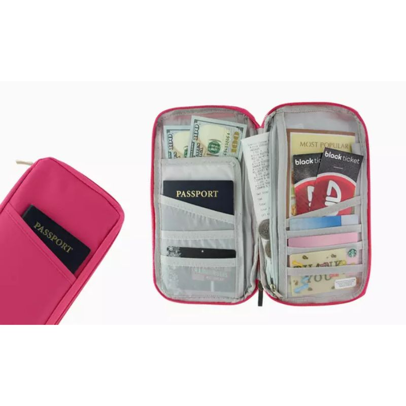 Passport Bag and Travel Document Wallet Holder