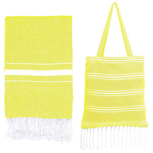 Travel  Beach Towel - Tote Bag with Cotton Beach Towel/Blanket