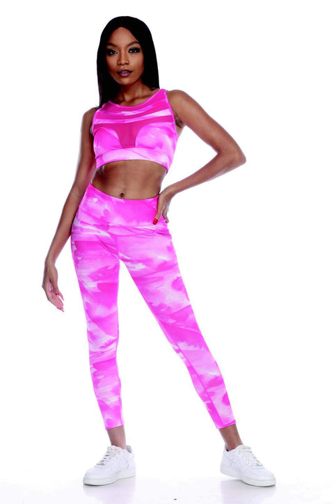 7NINETEEN PINK CLOUD ACTIVEWEAR SET - 7Nineteen clothing store
