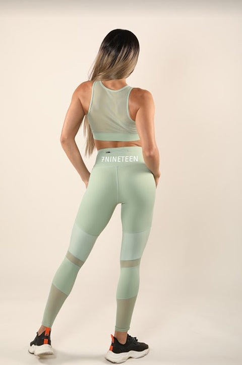 7NINETEEN MOTO MINT GREEN LEGGINGS - 7Nineteen clothing store