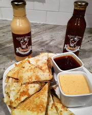 CRAB QUESADILLA w/PHILMORE'S GOURMET SEAFOOD SAUCE & PHILMORE'S GOURMET CAJUN REMOULADE!!! PHILMORE'S GOURMET...It Makes EVERYTHING Taste Better!!!