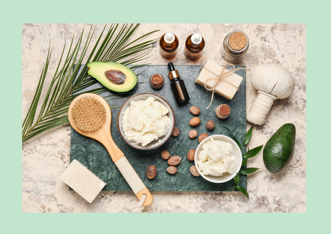 various ingredients for skin and hair health