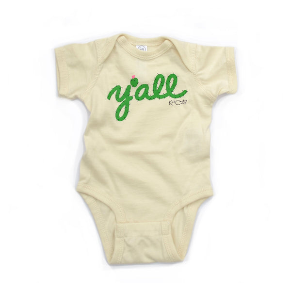 y'all prickly pear infant bodysuit