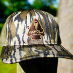 Load image into Gallery viewer, Panola Brand Arrowhead Trucker Hat- Camo