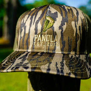 Panola Feather Logo Trucker Hat- Camo