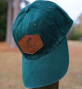Original 'Panola Productions' Logo Leather Patch- Relaxed Fit- Green
