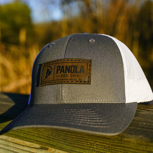 Panola Brand Leather Patch Low Pro Trucker Hat