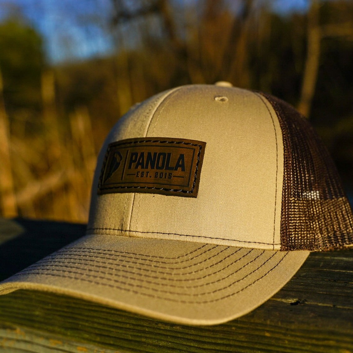 Panola Brand Leather Patch Trucker Hat