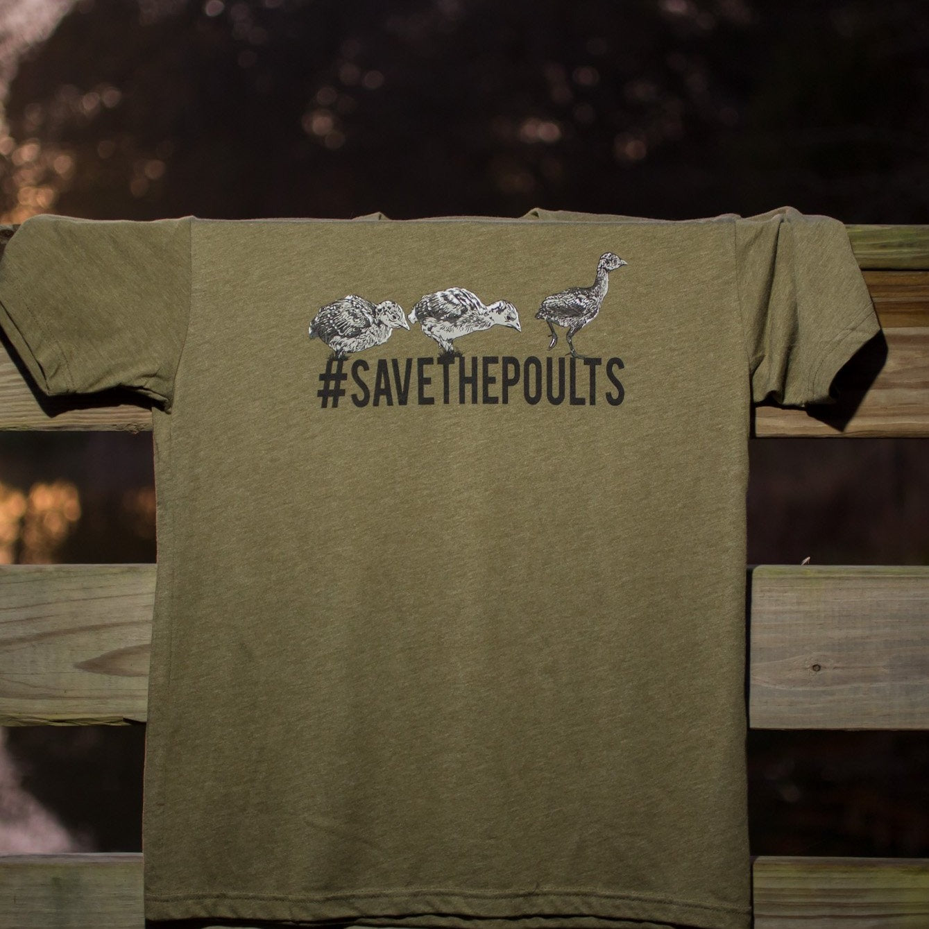 #SAVETHEPOULTS- Tri-blend Tee- Front Logo