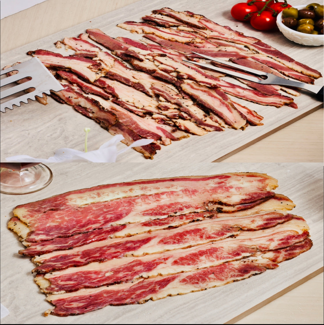 Lamb Bacon & Maple Bacon 1lb