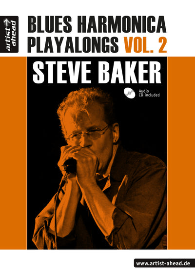 Steve Baker - Blues Harmonica Playalongs Vol. 2  (Buch-PDF und MP3s) (6688922534041)