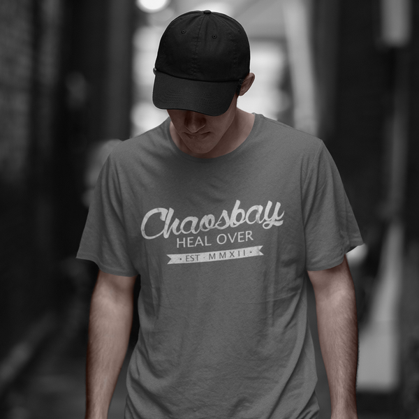 "Chaosbay – T-Shirt ""Heal Over"", men, grey"