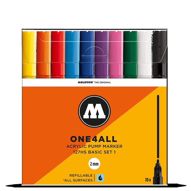 Molotow One4all 127HS - Basic Set 1 - 10 pack Molotow