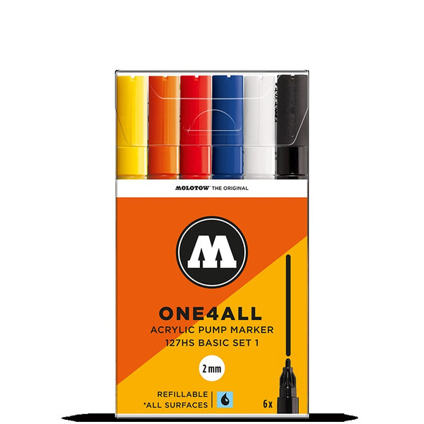 Molotow One4all 127HS - Basic Set 1 - 6 pack Molotow