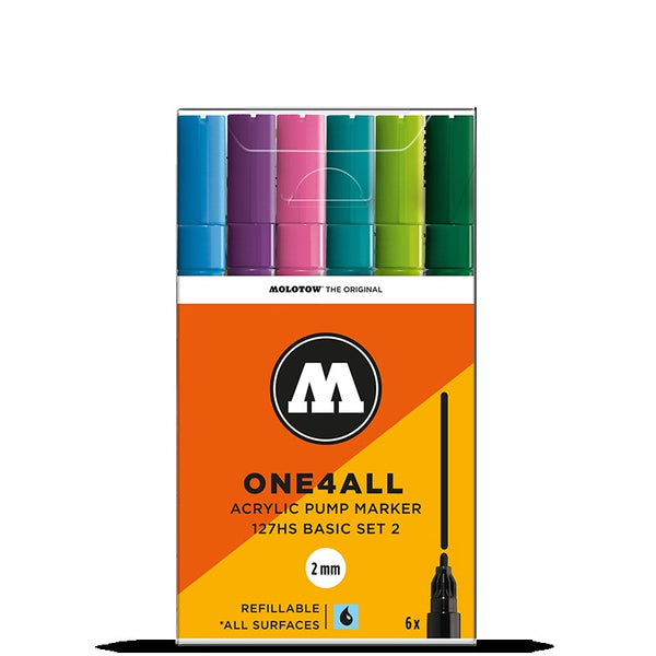 Molotow One4all 127HS - Basic Set 2 - 6 pack Molotow