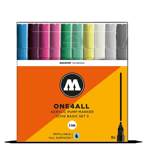 Molotow One4all 127HS - Basic Set 3 - 10 pack Molotow