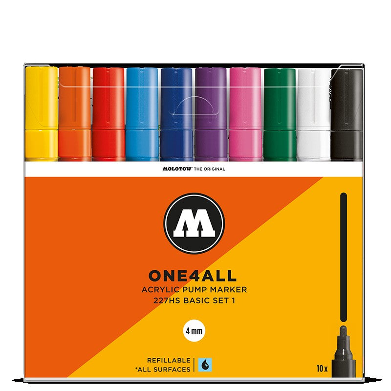 Molotow One4all 227HS - Basic Set 1 - 10 pack Molotow