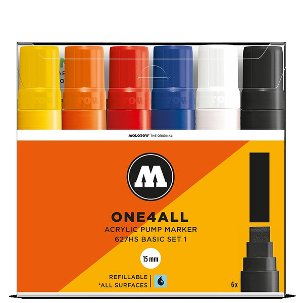 Molotow One4all 627HS - Basic Set 1 - 6 pack Molotow