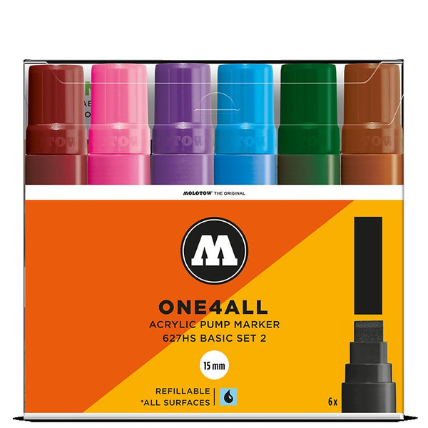 Molotow One4all 627HS - Basic Set 2 - 6 pack Molotow