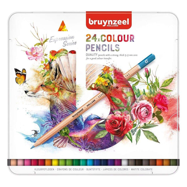 Talens Expression Colour Pencils - Tin 24 Talens