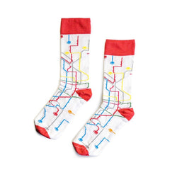 MTN Socks White Metro