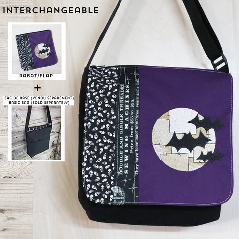 Bats on moon flap MEDIUM size