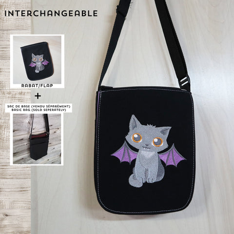 SMALL size cat with wings flap