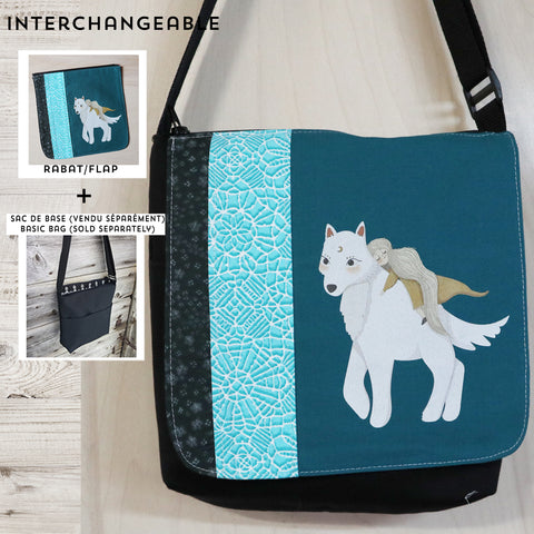 Little girl with wolf flap MEDIUM size
