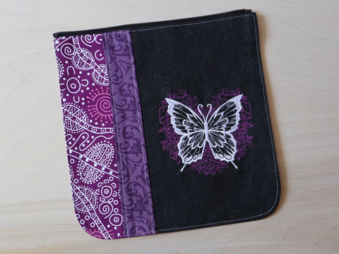 Large butterfly flap