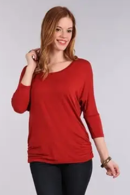 I CC YOU MATERNITY KNIT TOP (RUST)