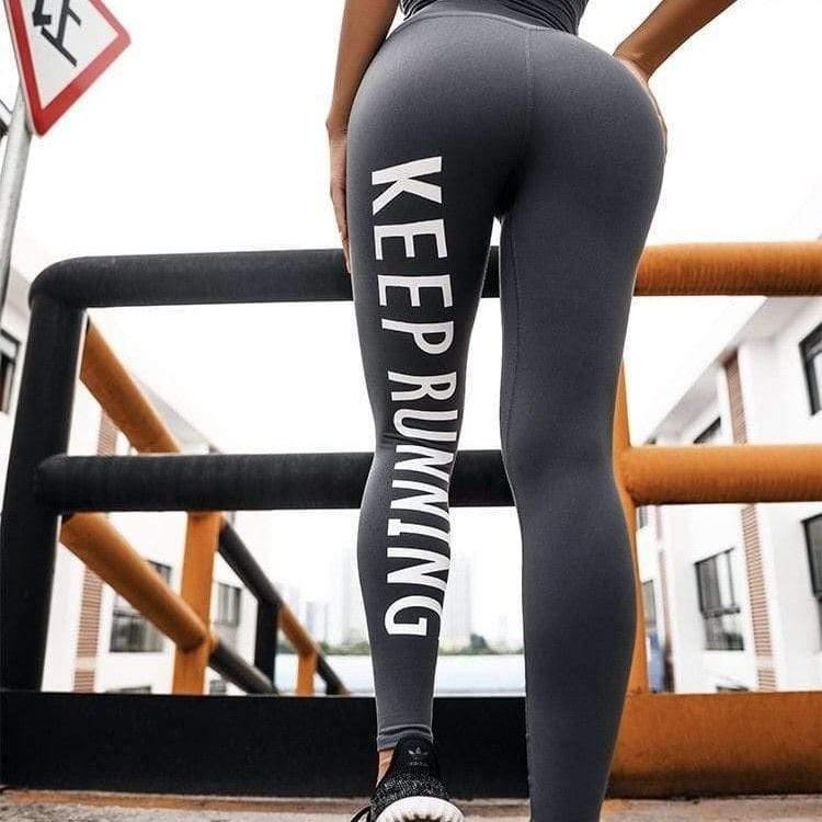KingdomFiit High Waist Letter Print Leggings