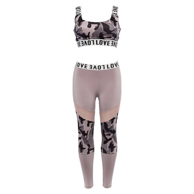 Seamless Camo Love Yoga Set - KingdomFiit