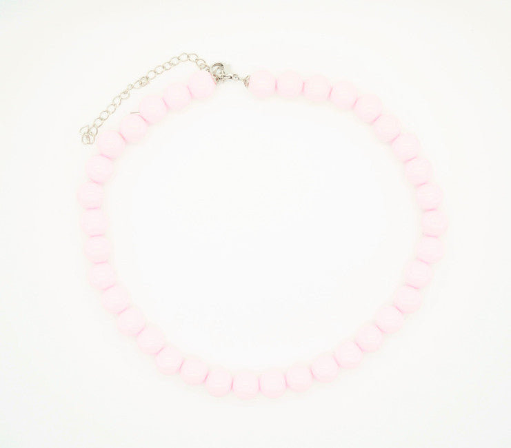 Baby Pink Beaded Necklace