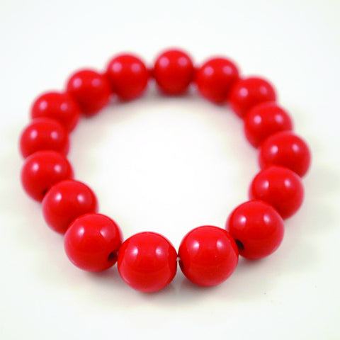 Coloured Acrylic Beaded Bracelets - Super Cute Size
