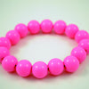 Coloured Acrylic Beaded Bracelets - Cute Size