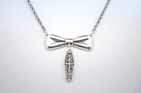 Bow and Coffin Necklace