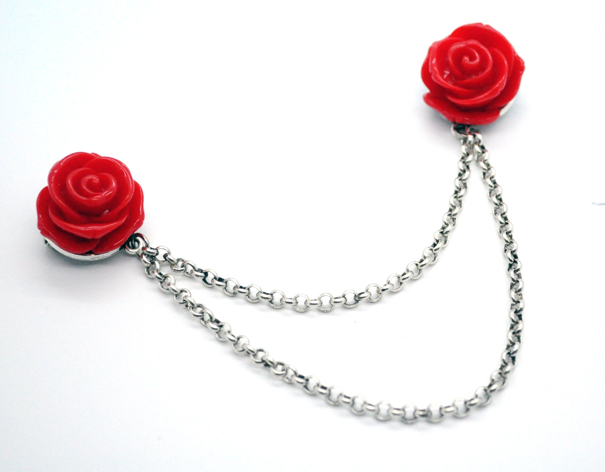 Red Roses Cardigan Clips