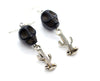 Black Skull and Cactus Earrings