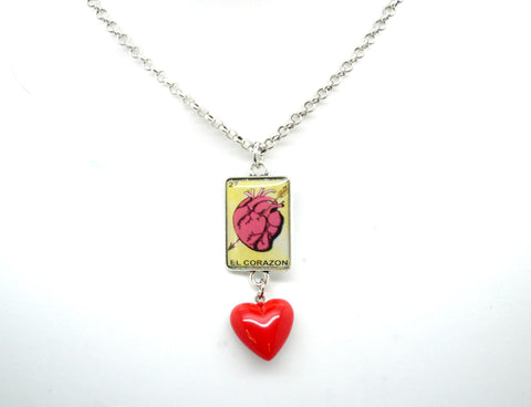 El Corazon - Loteria Heart Necklace