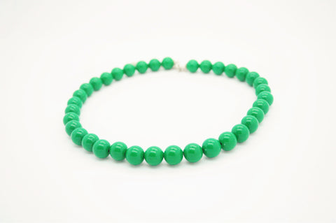 Dark Green Beaded Necklace