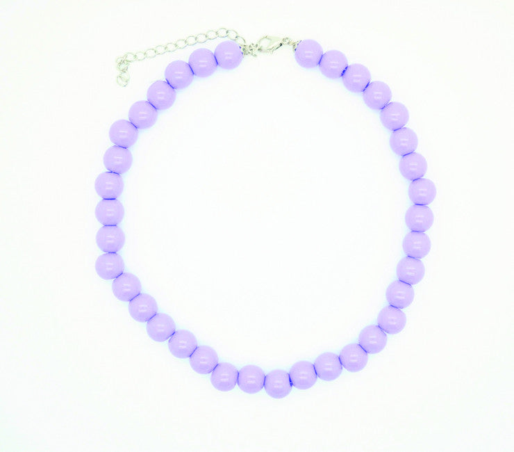 Lilac Beaded Necklace