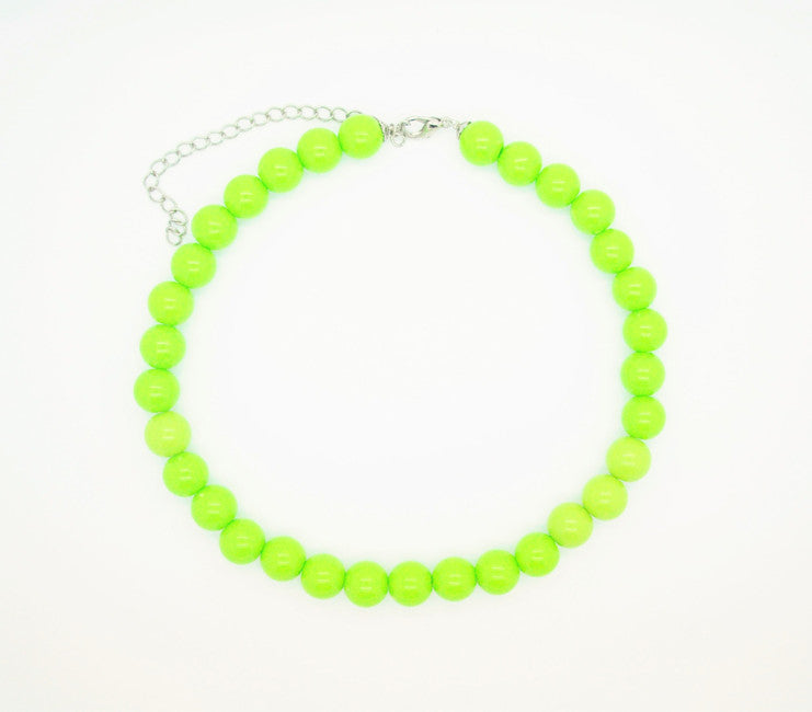 Lime Beaded Necklace