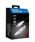 2in1 Play & Charge cable for Sony Playstation 5 & Playstation 4 - CC200