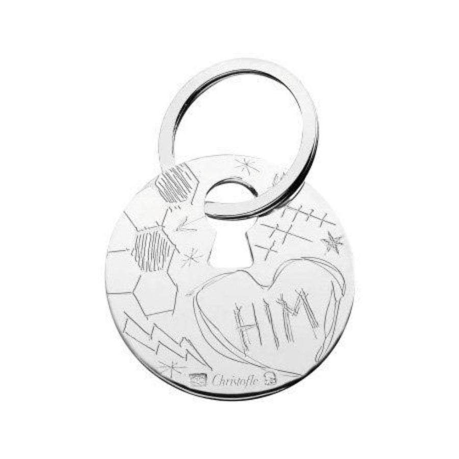 Graffiti HIM Key Chain, Silver Plated