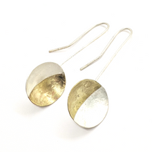 Load image into Gallery viewer, BRASS & SILVER DANGLES - EARRINGS