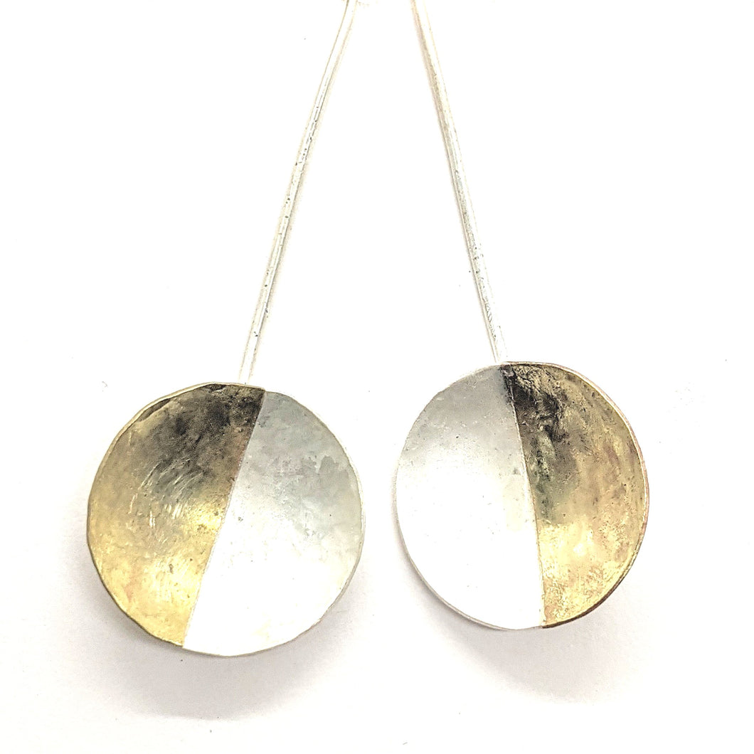 BRASS & SILVER DANGLES - EARRINGS