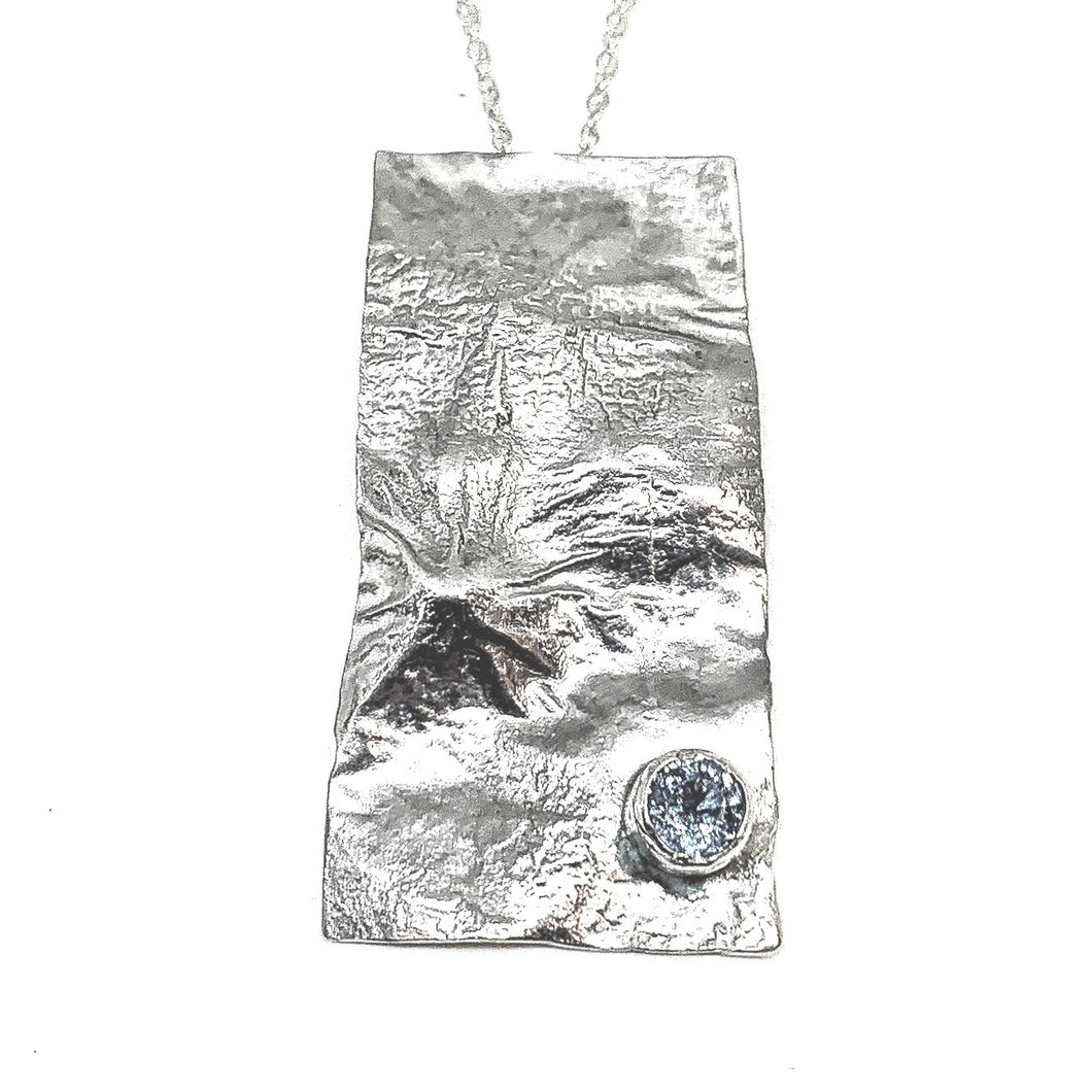 STERLING SILVER RETICULATED PENDANT