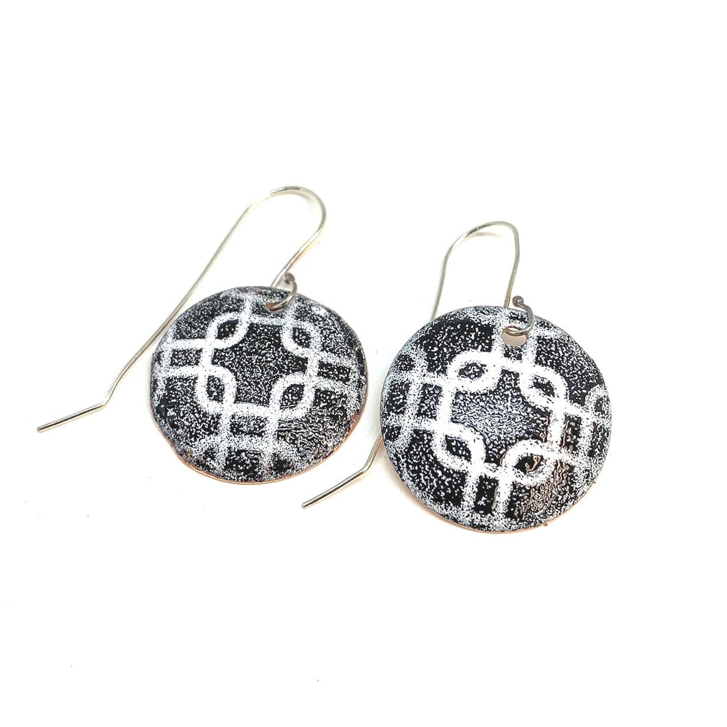 MOSAIC ENAMELED COPPER EARINGS