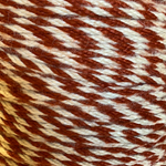 Mohair Candy Stripe Rust