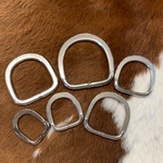 Flat Stainless Steel D-Rings